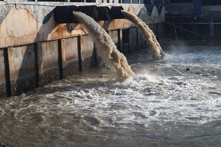 municipal wastewater collection basin
